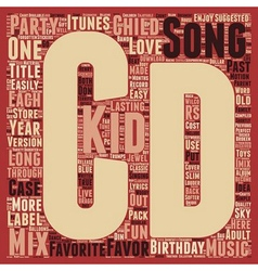 Mix CD A Unique Kids Birthday Party Favor text vector image