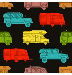 Rv Travel Pattern Background vector image vector image