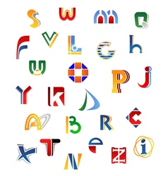 Set of full alphabet letters vector