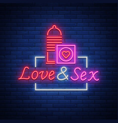 sex shop is a neon sign logo vector image