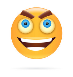 smiley character design icon style angry face vector image