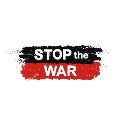 Stop the war sign vector