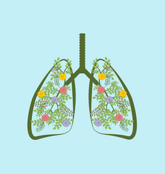 trees are the lungs of the earth vector image