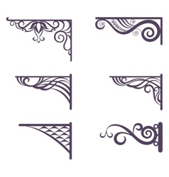 Vintage brackets for signboard silhouettes vector image vector image