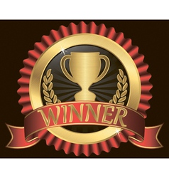 Winner Gold Label vector image vector image