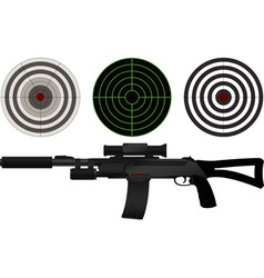 sniper rifle and targets vector image