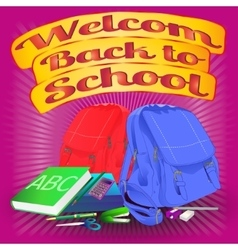 welcome back to scholl vector image