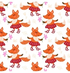 Seamless pattern with fox vector