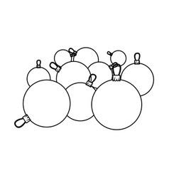 figure christmas balls icon vector image