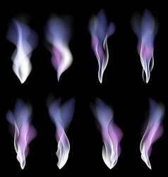 Abstract festive light background smoke violet vector