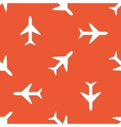 Orange plane pattern vector