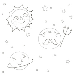 Coloring book educational game vector