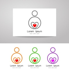 Love care sign identity vector