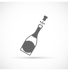 Champagne bottle icon vector