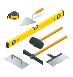 Collection of most common types of masonry tools vector