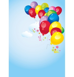 Colorful balloons vector