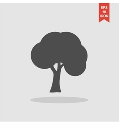 Trees icons flat design style vector