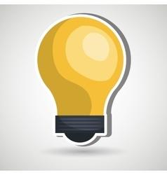 Bulb light design vector