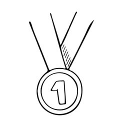 Simple hand drawn doodle of a medal vector