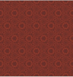Abstract red seamless hand-drawn pattern vector image vector image