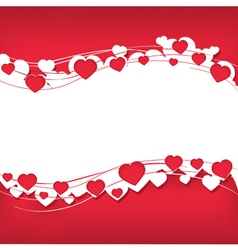 Background for text with hearts vector image