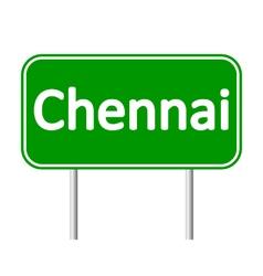 Chennai road sign vector