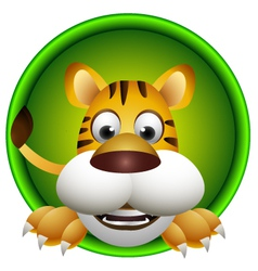 cute tiger head cartoon vector image vector image