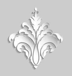 damask volumetric ornamental element elegant vector image