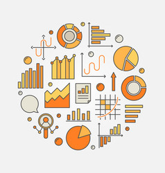 Data analytics concept vector
