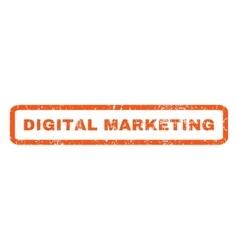 Digital marketing rubber stamp vector