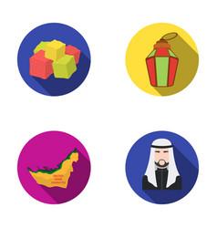 eastern sweets ramadan lamp arab sheikh vector image