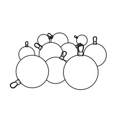 figure christmas balls icon vector image