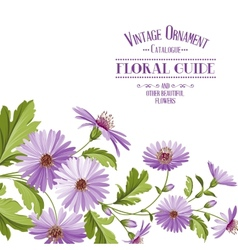 Flower background with violet flowers vector