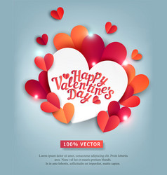 for valentines day hearts carved vector image vector image