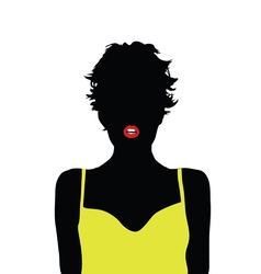 girl with yellow shirt vector image