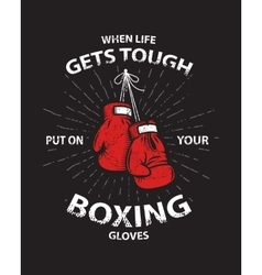 Grunge boxing motivation poster and print vector image