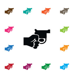 Isolated gun icon revolver element can be vector