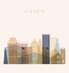 Jackson state mississippi skyline vector