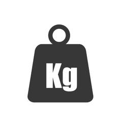 Metal weight kilogram heavy icon graphic vector