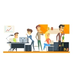 Office team on coffee break vector