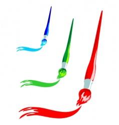 Paintbrush artistic stroke vector