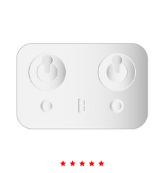 remote control icon different color vector image vector image