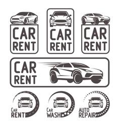Rental car repair wash logo template design vector