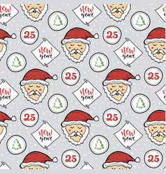 Seamless christmas pattern new year decoration vector