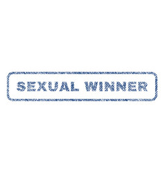 Sexual winner textile stamp vector