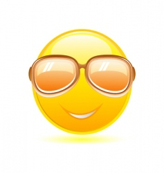 smiley with sunglasses vector image vector image