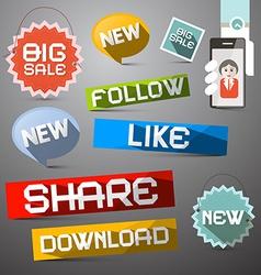 Social Media Symbols Set vector image vector image