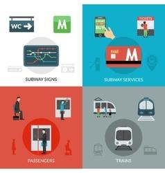 Subway Icons Set vector image