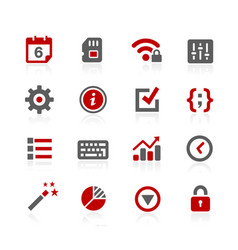 System setings interface icons vector