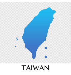 Taiwan map in asia continent design vector